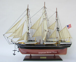 Charles W Morgan Whale Ship Model Handcrafted Wood Fully Assembled