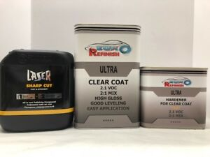 European Clear Coat 2k 2 1 Mix 2 1 Voc 7 5l Kit 1 Gallon Polishing Compound
