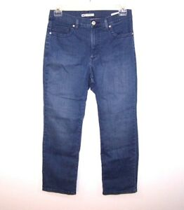 Lee Womens Jeans Classic Fit At The Waist Size 12 Petite Blue
