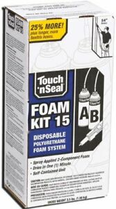 Touch N Seal 4004520015 U2 15 Spray Closed Cell Diy Foam Insulation Kit 15 Bf