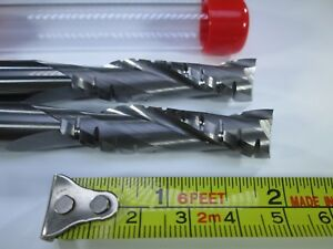 Lot 2 Pcs Tma Carbide 1 2 Roughing Endmills Long 4 Milling Rougher Length
