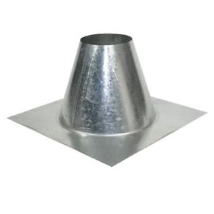 2 Galvanized Metal Roof Flashings For 8 O d Pipe For Flat Roof qty 2