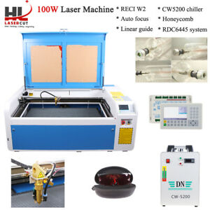 Reci W2 100w 1000 X 600 Mm Co2 Laser Cutting Machine Laser Cutter Engraver Usb