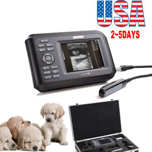 Vet Veterinary Portable Ultrasound Scanner For Cow horse animal W Rectal Probe