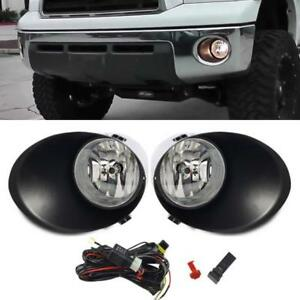 For 07 13 Toyota Tundra Oe Clear Fog Lights Bumper Driving Lamps Switch Bulbs