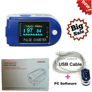 24hour Sleep Fingertip Pulse Oximeter Blood Oxygen Monitor Spo2 O2 Sensor usa