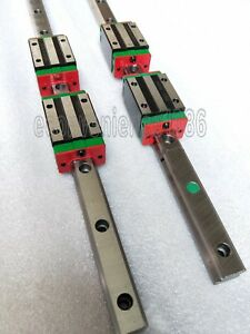 2 Sets Hgr15 500mm Hiwin Linear Rail 4 Pcs Hgh15ca Block Carriage Bearing