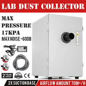 Us Dental Lab Digital Single row Dust Collector Vacuum Cleaner 2x Suction Base