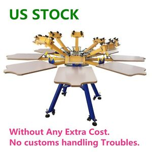 Us Stock 8 Color 8 Station Screen Printing Machine Press T shirt Printer Diy