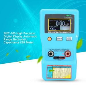 Mec 100 Electrolytic Capacitor Esr Meter Digital Display Auto Range Tester 470