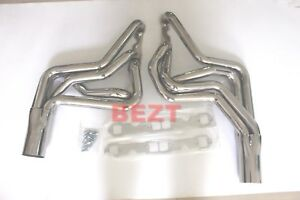 Exhaust Header For 72 87 Sbc Street Stock Buick Regal Chevy Camaro Long Tube