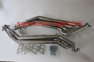 Long Tube Exhaust Header Fits 11 17 Ford Mustang 5 0l V8 Stainless Steel Gt Pair