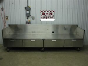 Delfield Stainless Heavy Duty 10 Equipment Griddle Stand Table Cabinet 120