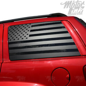 1999 2004 Jeep Grand Cherokee American Flag Side Window Vinyl Decals Stripes