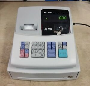 Sharp Xe a102 Electronic Cash Register With Drawer As is Read