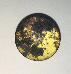 Rare Antique Colonial Imperial London Co Small Flat Button Guilt Scarce Old