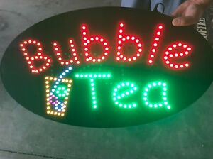 Bubble Tea Super Bright High Quality Led Open Sign Store Sign Business Sign