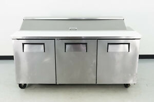 Used True Tssu 72 18 72 3 Door Refrigerated Sandwich Prep Table