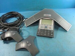 Cisco 7937g Unified Ip Conference Phone Cp 7937g W 2 Microphones Used