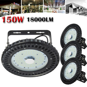 4 Pcs 150w Led High Bay Ufo Light Gym Factory Warehouse Industrial Shed Lighting