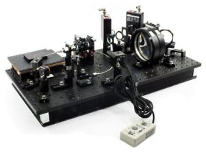 Edmund Scientific Optical Breadboard Loaded With Optics Mounts And Components