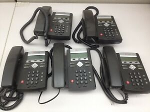 Lot Of 5 Polycom Ip321 Voip Office Telephone Ph609ds