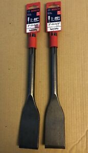 Two 2 Brand New Bosch Hs1915 Sds max Tile Chisel 2 X 11 1 2