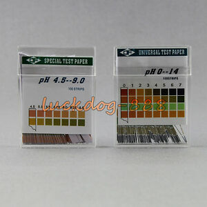 100 Strips Full Range Ph Alkaline Acid 0 14 Test Paper Water Litmus Testing Kit
