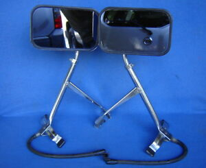 Vtg 60s Yankee Tow Mirrors Universal Fender Mount Car Truck Rod Trailer Towing