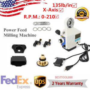 X Axis Power Table Feed Adjustable Speed 135lb in 210 Rpm 110v For Bridgeport Us