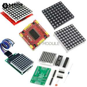3mm 5mm Max7219 8x8 Dot Matrix Display Red full Color Rgb Led Diy Kit Welded
