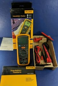 New Fluke 1507 Insulation Tester Box Accessories