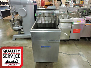 Imperial Commercial Gas Fryer W Right Side Splash