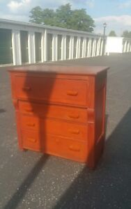 Huge Antique Empire Chest Of Drawers Dresser