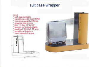 Used Suit Case Wrapper Stretch Wrapper Wrapping Machine Shrink Wrap Machine