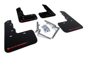 Rally Armor Mud Flaps Guards For 17 19 Civic Type r Fk8 black W red Logo