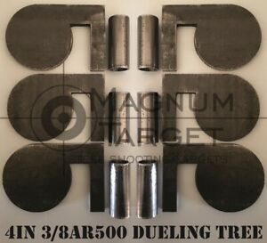 4quot;x 3 8quot; AR500 Steel Shooting Range Targets Dueling Trees Metal Paddles w tubes $54.99