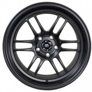 Mst Suzuka 16x7 25 4x100 4x114 3 Matte Black set Of 4