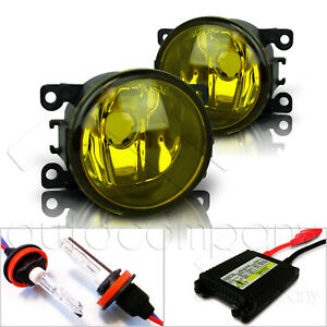For 2013 2014 Ford Fusion Replacement Fog Lights W hid Kit Yellow