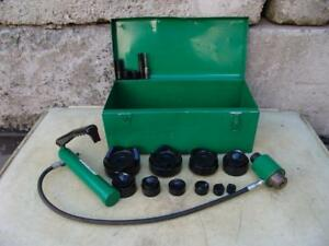 Greenlee 7310 Hydraulic Knockout Punch And Die Set 1 2 To 4 5 21 6