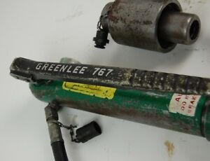 Greenlee 767 Hydraulic Knockout Hand Pump Hydraulic Driver And 746 Ram B
