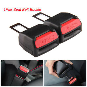 Universal 2pcs Car Safety Seat Belt Buckle Extension Extender Clip Alarm Stopper