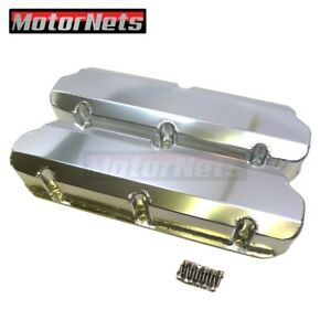 Small Block Ford Sbf Fabricated Aluminum Valve Cover 1962 85 Tall 5 0l No hole