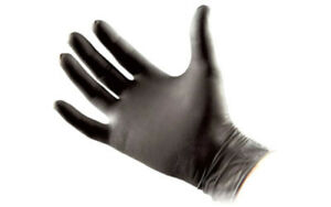 North American Rescue 70 0003 Large Black Medical Talon Gloves 50 Pairs