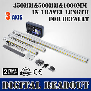 3 Axis 450 500 1000 Digital Readout Display Linear Scale Dro Display 200 Sdm
