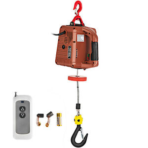 110v Electric Hoist Winch Ac Corded Version 885000 Hoisting Pullzall 7 6m 120v