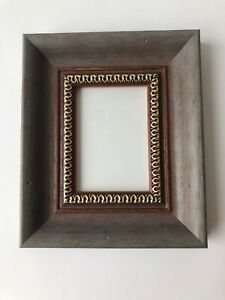 New Quality Wooden Aceo Art Card 3 5 X 2 5 Wine Red Grey Picture Frame