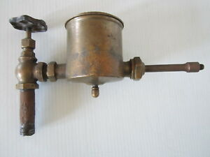 Vintage Antique Brass Oiler Lubricator Hit Miss Steam Engine Boat Ship Tractor