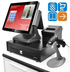 3nstar Pcamerica Cre Pos Bundle J1900 4gb 500 Ssd Touchcomputer Retail 1d Stand