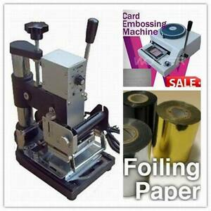 New Manual Hot Foil Stamping Tipper Bronzing pvc Card Embossing Machine 2 Rolls